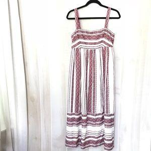 Maggy London flowy boho embroidered midi dress